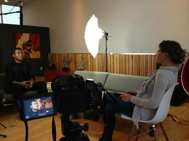 Dr. Rhea Interviewing Kute Blackson at his LA Studio