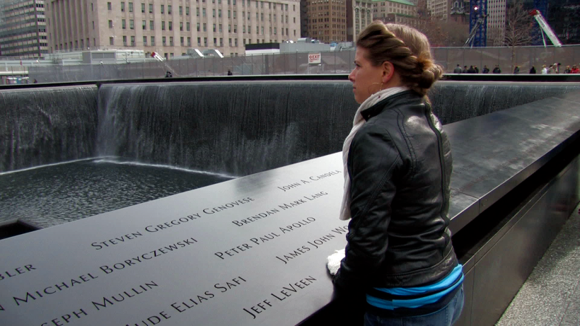 Dr. Rhea visits the 9/11 Memorial in New York City for the first time.