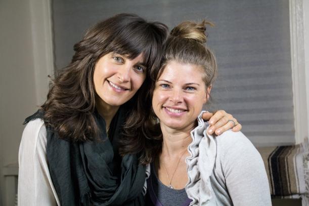 Elena Brower & Dr. Rhea on the Love Bomb set at Virayoga, NYC